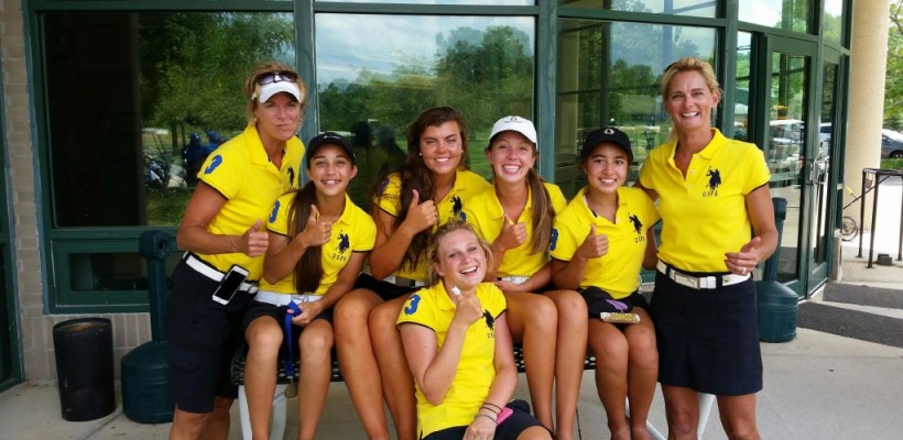 New EC Girls Golf Team Celebrates First Victory