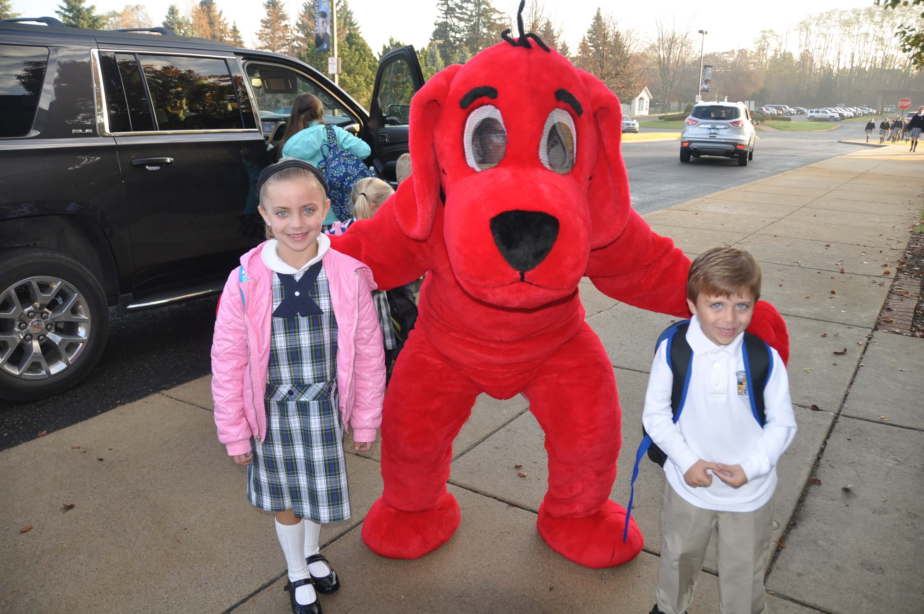 Clifford the Dog was on hand on Friday last week to help kick off the Book Fair.