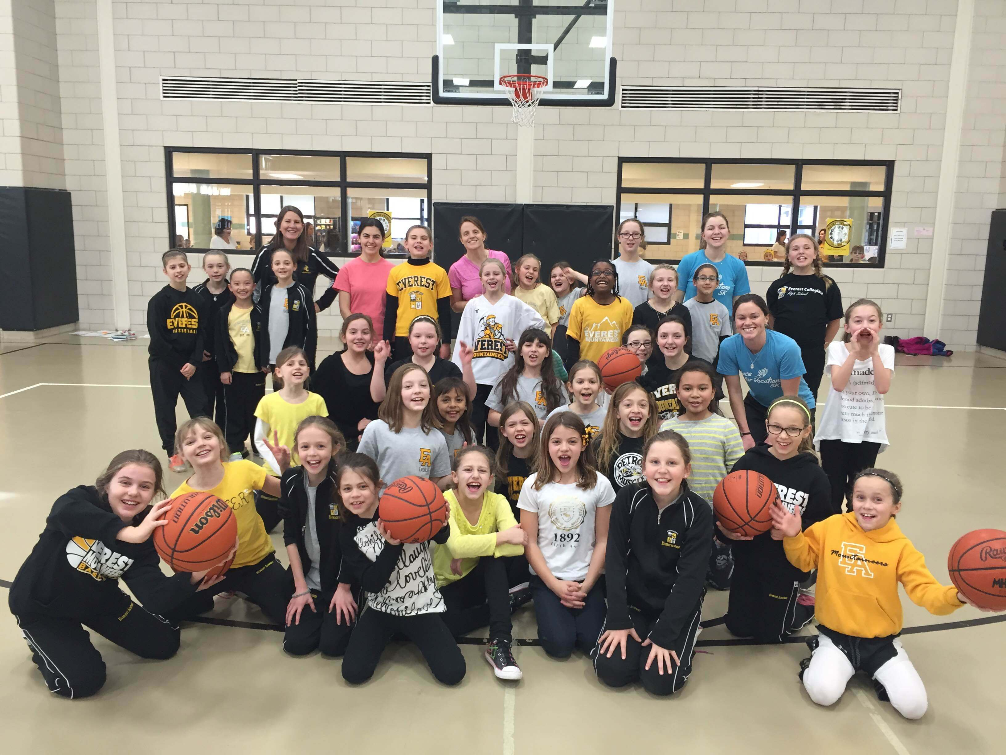 The EA girls had a great time playing basketball with the Consecrated Women as part of the week's festivities.