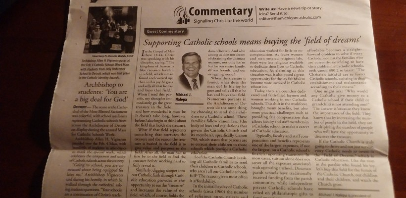 Read Everest's President's Letter in the Michigan Catholic