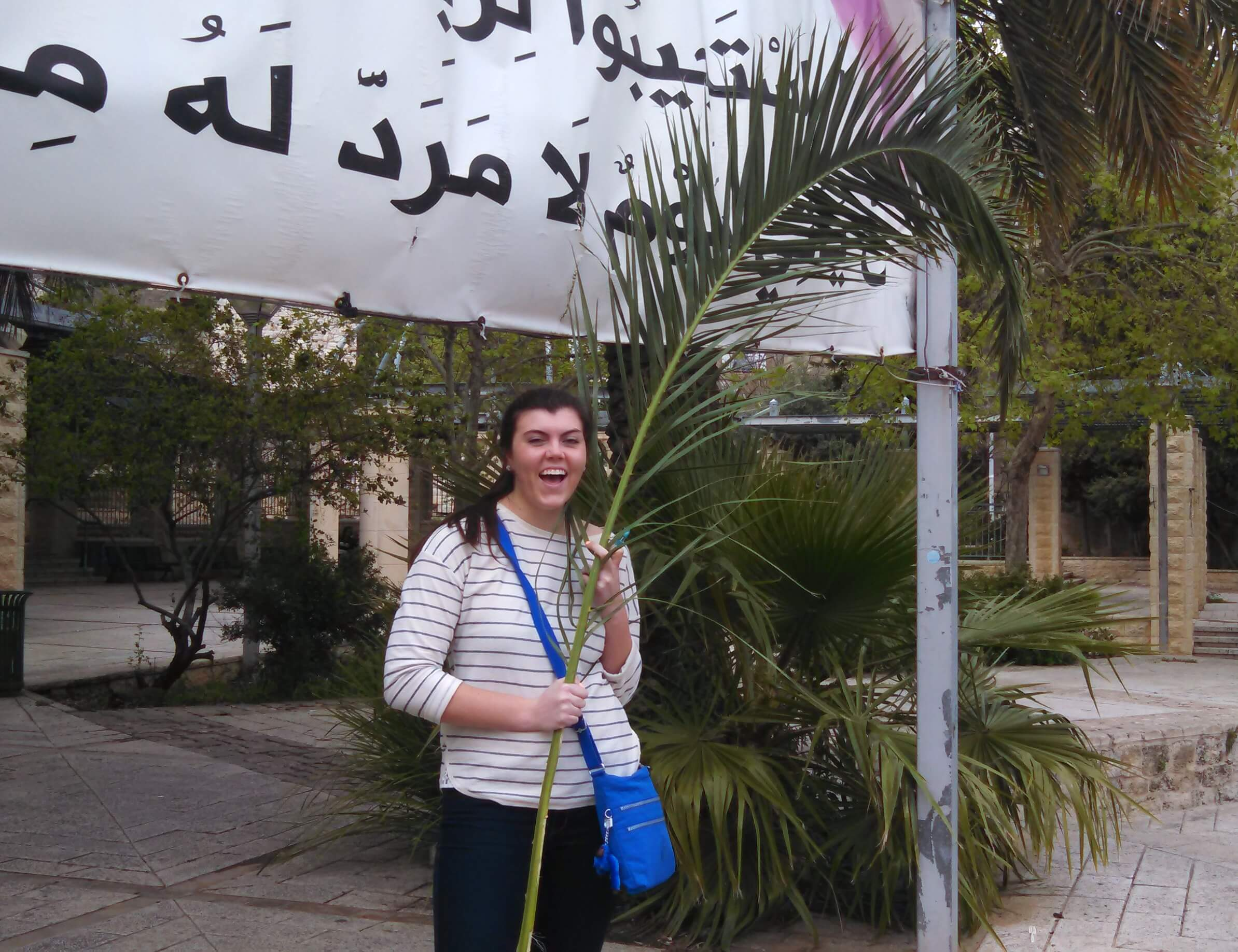 Holy Land Clare with Palm
