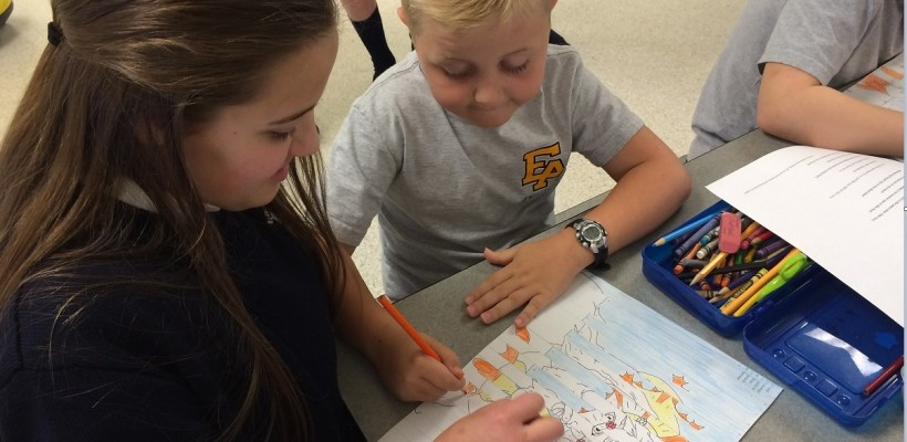 8th Grade Hosts Retreat for 2nd Graders
