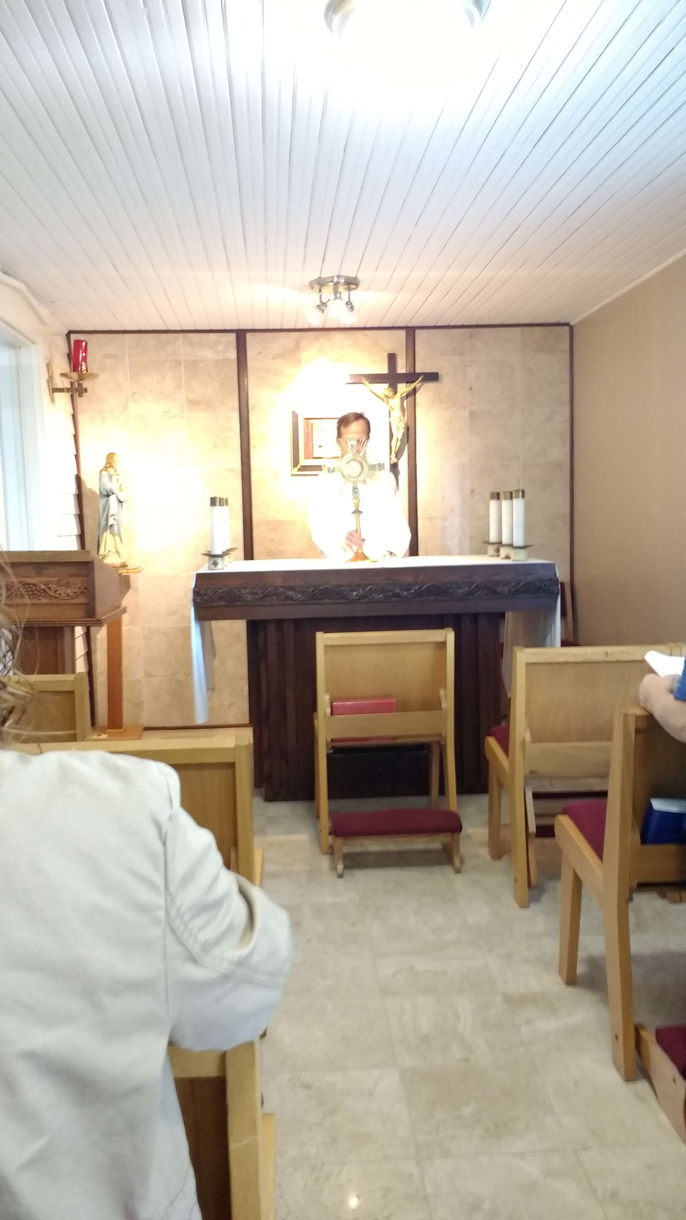 Eucharistic Adoration is part of the Friday prayer gathering.