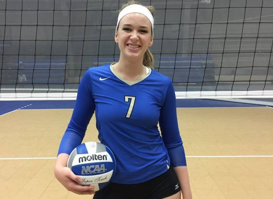 Claire plays for the volleyball team at Hamilton College