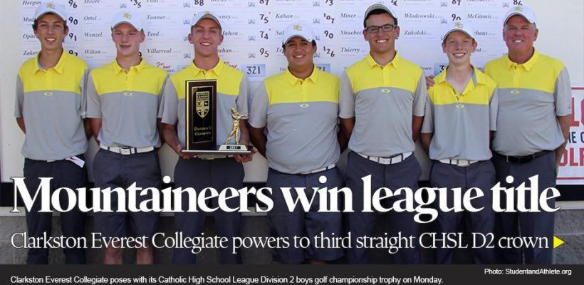 Third Straight CHSL D2 Title for Golfers