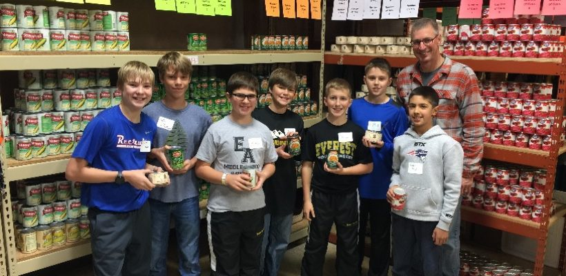 Boys' Middle School Student Government Helps Ladies of Charity