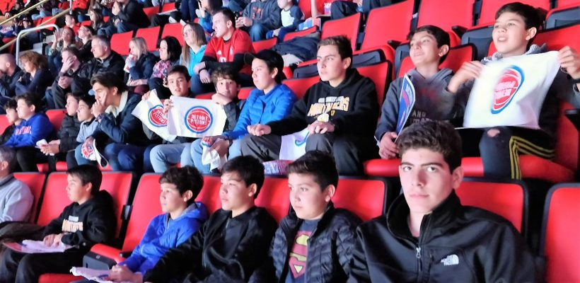 EA International Students See Piston's Game