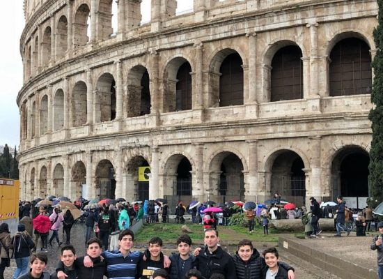 Group at the Coliseum