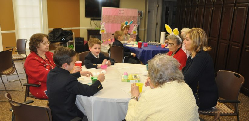 First Graders Visit Senior Communities