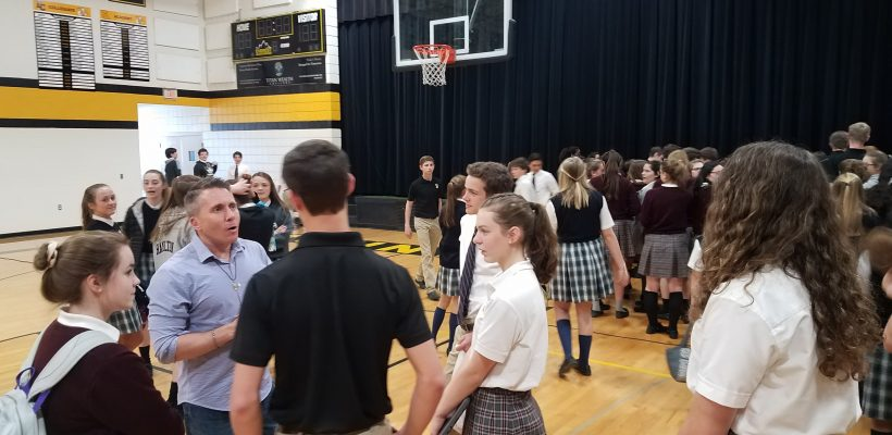 Chastity Speaker Jason Evert Visits Everest