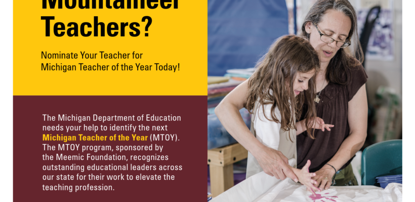 Nominate Your Teacher Today