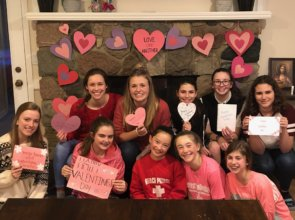 ECYD Girls Share Valentine's Love