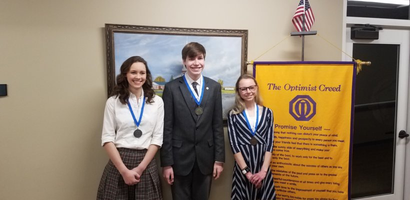 Essay Writer Honored by Optimists