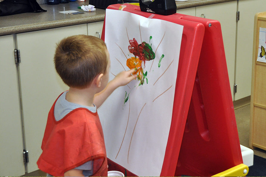 Early years finger painting