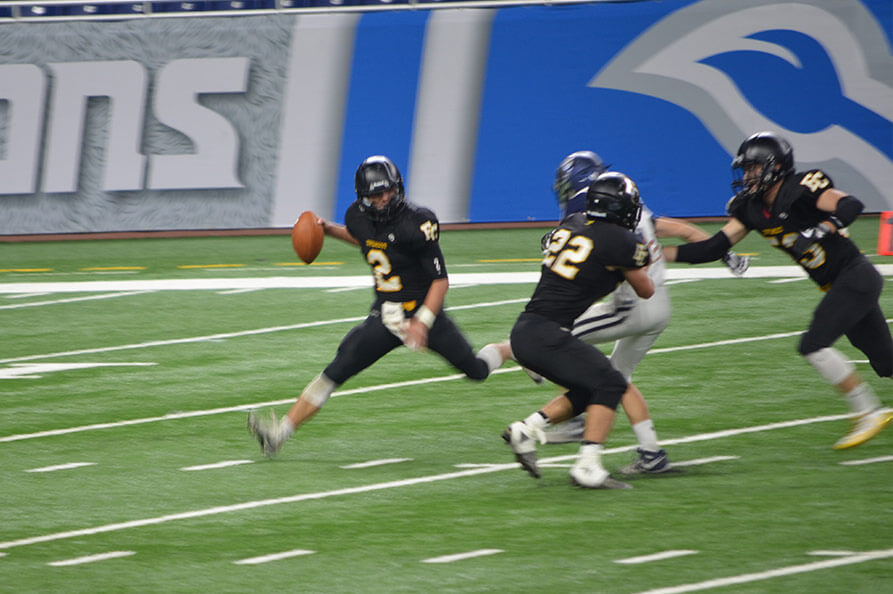 Playoff football game at ford field
