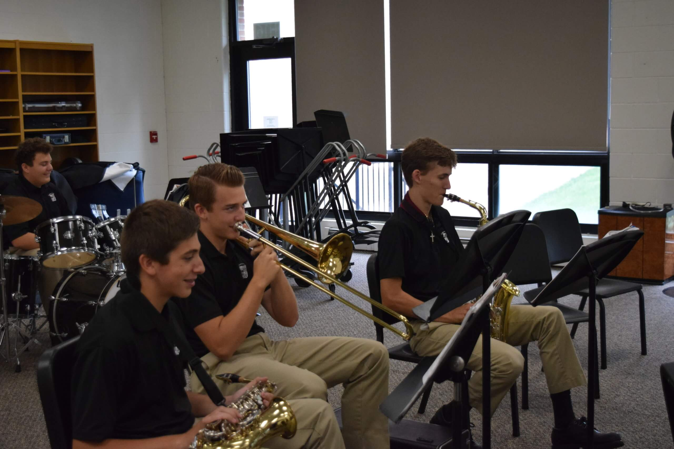Student band practice